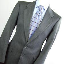 Jaeger Mens Grey Striped Wool Suit Jacket Size 38