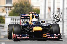 Sebastian Vettel SIGNED 12x8 ,F1 Red Bull RB8, Monaco Grand Prix , 2012