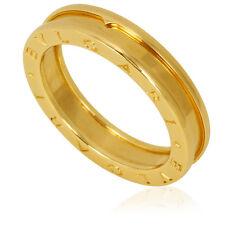 Bvlgari B.Zero1 18K Yellow Gold 1-Band Ring Size 10