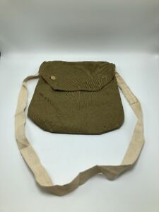 VTG Military Green Canvas Messenger Tote Bag Maple 1940