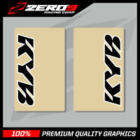 KYB UPPER FORK DECALS MOTOCROSS GRAPHICS MX GRAPHIICS ENDURO CLEAR BLACK