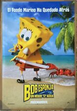 THE SPONGEBOB MOVIE SPONGE OUT OF WATER MOVIE POSTER DS ORIGINAL SPANISH 27x40