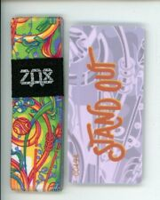 Medium ZOX Silver Strap STAND OUT Wristband with Card Reversible