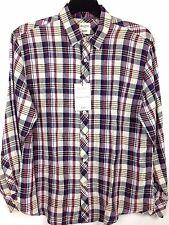 Murano Baird McNutt Linen Shirt New Men's Large L Burgundy MSRP: $79.50