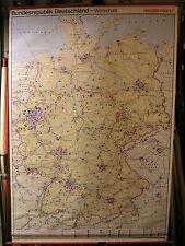 Schulwandkarte Wandkarte map Karte BRD Deutschland VW Opel BMW Benz Rad 137x200c