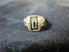 10 K GOLD RING WITH BLACK ENAMEL, HIGH SCHOOL GRADUATION C1946