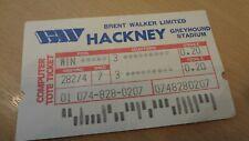 HACKNEY GREYHOUND STADIUM TOTE TICKET.  AS SHOWN.