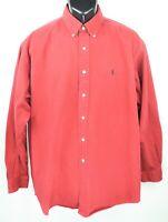 Polo Ralph Lauren Men's Size XL Red Long Sleeve Button Down Shirt EUC