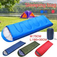 210x75CM 1 Person Sleeping Bag Zip Hiking Camping Suit Case Envelope Waterproof