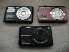 Sony Cyber-shot Nikon Coolpix Fujifilm Finepix Digital Cameras 3 Part or Repair