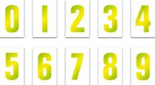 "Hi Viz Yellow Wheelie Bin Sticker Sticker Vinyl Quality 7""Adhesive Weatherproof"