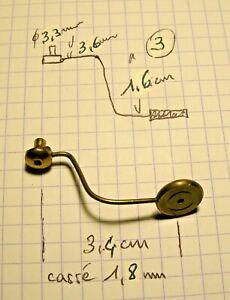 pièce détachée de pendule (3) ,marteau de cloche ,timbre ,Mouvement