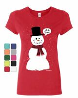 Let It Snow Women's T-Shirt Funny Snowman Christmas Xmas Shirt