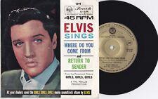 ELVIS PRESLEY - RETURN TO SENDER - 1968 RARE GOLD PRESSING - AUSTRALIAN 45
