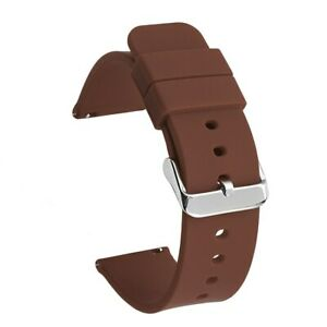 22mm Waterproof Silicone Band Quick Pins Watch Strap 14mm 16 18 19 20mm 21 24mm
