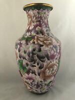 """Chinese Vintage Antique Reproduction Cloisonné Vase """"15 """" inches (H)"""