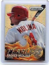 """2013 Prizm #F2 Yadier Molina """"Fearless"""" Refractor, St. Louis Cardinals, 022516"""