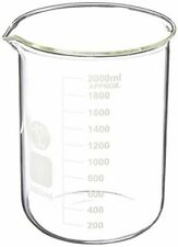 Ajax Scientific GL Borosilicate Glass Graduated 2 Liter Beaker, Experiment Lab