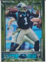 CAM NEWTON - 2015 Topps Chrome CAMO REFRACTOR /499 - Panthers SP