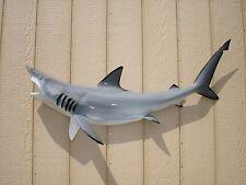 """47"""" GREY Blacktip Shark Half Mount Fish Replica - IN STOCK"""