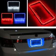 12V Red 54 LED Lighting Plastic Rear License Car Plate Cover Frame NEW