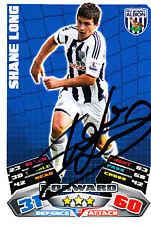 West Bromwich Albion F.C Shane Long Hand Signed 11/12 Match Attax WBA.