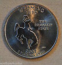 2007-D Uncirc.  Wyoming Statehood Quarter - Single