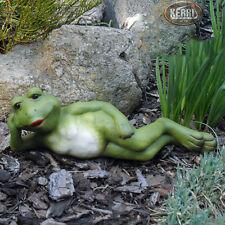 Frosch Gartendeko wetterfest KERRI Keramik Handarbeit Frösche Gartenfigur