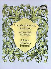 Johann Nepomuk Hummel Sonatas Rondos Fantasies Play Piano Music Book