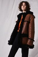 Topshop Teddy Car Coat by Boutique Size S 8/36-10/38  US 4-6 RRP £795.00