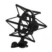 Universal Black Microphone Shock Mount Clip Holder Large Diameter Condenser Mic