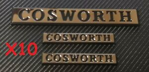 Reproduction Chrome Cosworth Badge 1 x Large & Small X 2 Trade Pack x10