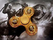 Hand Kreisel Finger Fidget Spinner Gold Totenkopf Silber 3D Turbo Kugellager