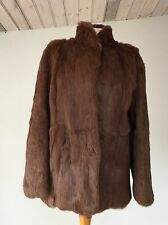 VINTAGE 1970-80'S SOFT BROWN REAL LONGISH FUR CLASSIC SHORT JACKET