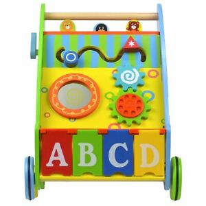 boppi - Wooden Push Along Activity Walker for Babies & Toddlers 9-18 Months gift
