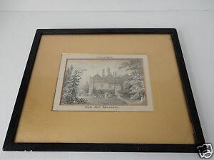 JOSEPH VINCENT BARBER 1788-1838 EN GRISAILLE WATERCOLOUR WHITE HALL SHREWSBURY