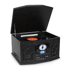 RETRO VINYL RECORD PLAYER CD STEREO SPEAKER SYSTEM USB SD  TURNTABLE *FREE P&P*
