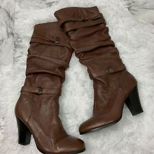 Steve Madden Boots size  9 Leather heel winter shoes brown