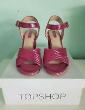 TopShop Funky Hot Pink chunk heels. Brand New size 7.5 US