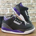 Nike Air Jordan 3 Retro Black Court Purple Shoes Men's Size 11 CT8532-050 DS