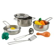 Deluxe 11-Piece Cookware Set with Food by KidKraft