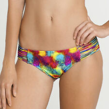 NEW $88 Luli Fama PLAYA CARAMELO Multi Strings Full Bottom SZ XS Bikini