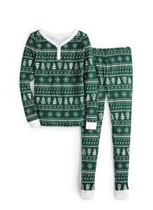 LC Lauren Conrad Girls Jammies for Families Christmas Pajamas 8 Trees NWT Cotton