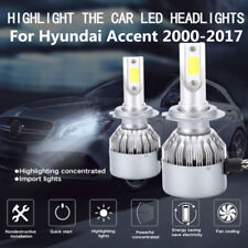 2PCS H4 LED  Headlight Kit High/Low Beam Conversion For Hyundai Accent 2000-2017