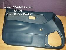 90-91 HONDA CIVIC SEDAN DRIVER FRONT DOOR PANEL USDM DOOR CARD