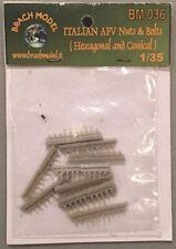 Brach Model 1:35 Italian AFV Nuts & Bolts (Hexagonal & Conical) BM036