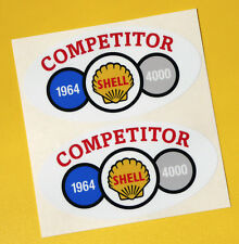 SHELL 4000 RALLY Classic Car COMPETITOR 1964 Race sticker MINI COOPER TRIUMPH