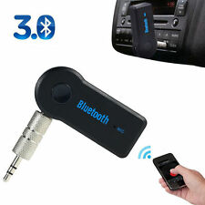 Bluetooth Wireless 3.5mm AUX Audio Stereo Music Home Car Receiver Adapter Mic AA