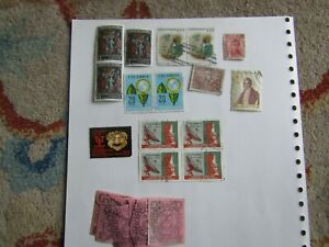 Columbia tax revenue fiscal stamps - timbre nacionale + used selection