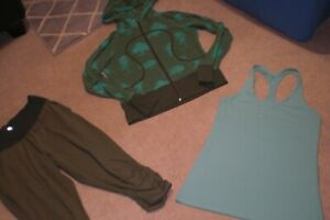 Lot of Rare Lululemon Crops, Lux Hoodie and Tank sz 12